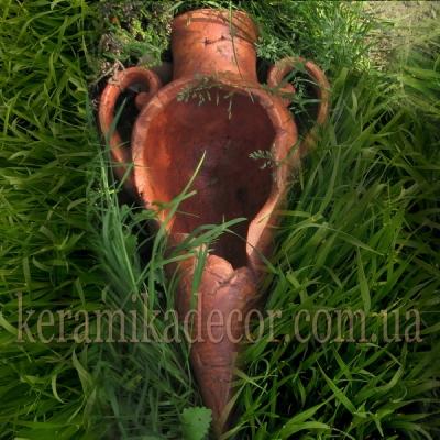 Керамическая амфора-вазон для интерьера гостинной, басейна, бани, для ландшафтного дизайна купить Киев Украина
