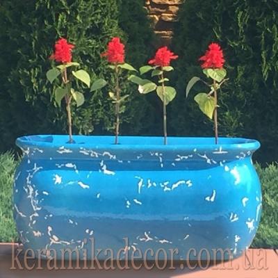 Керамический контейнер крупных размеров для растений и цветов купить