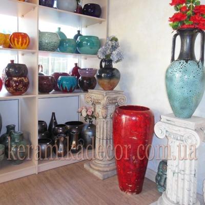 Магазин керамических изделий, горшки, вазы, чаши, колонны, фризы, консоли, сувениры купить Киев, Украина