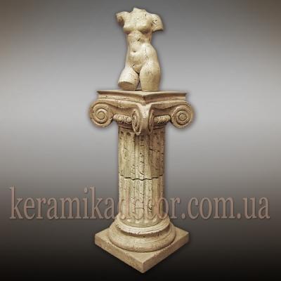 Керамическая колонна, пьедестал на 2сегмента, d=220мм с ионической всесторонней капителью и базой купить в Украине по низкой цене
