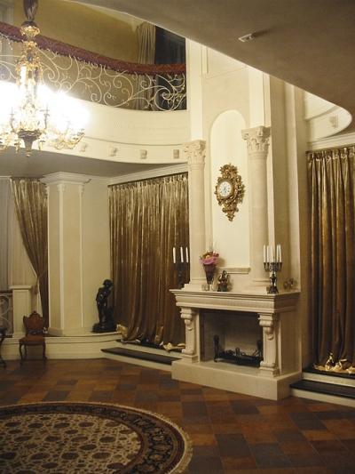 Керамический камин с колоннами, шамот купить Киев