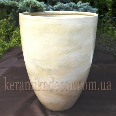 Керамический горшок с покраской под мрамор для пальм и деревьев купить