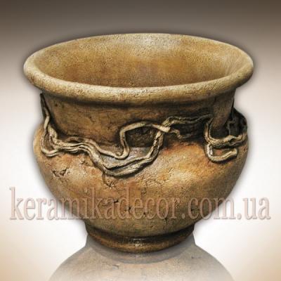 Керамический горшок для растений, шамот купить Украина