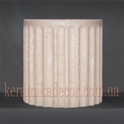 Керамическая колонна D=380мм. Сегмент с окончанием k-20