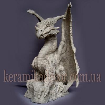 """Керамическая статуя """"Дракон"""" для фасада и ландшафтного дизайна купить"""