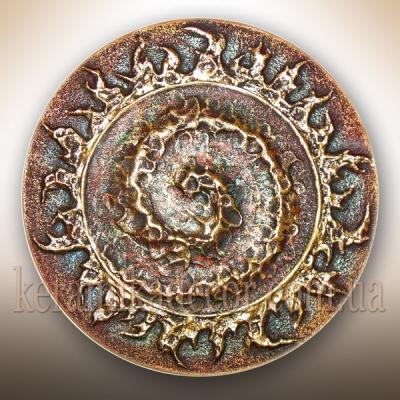 Декоративная красивая тарелка с изображением спирали купить на подарок Украина