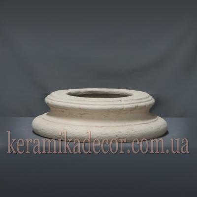 Керамическая колонна D=220мм. База №2 без плинта k-07