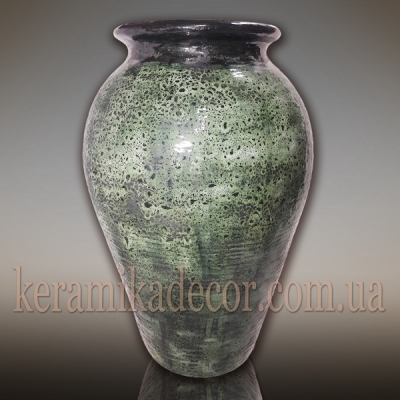 Керамический горшок малахит для интерьера, дизайн ландшафта, шамот, глазурь купить