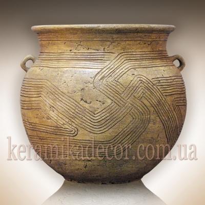 Керамический Трипольский горшок-ваза для цветов, дизайн интерьеров, ландшафтный дизайн купить Киев