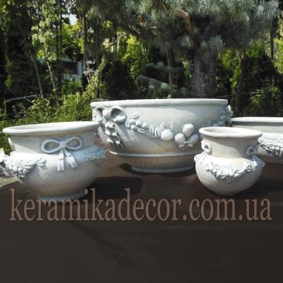 Керамические горшки в стиле прованс; керамика, шамот купить Украина