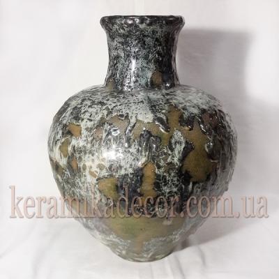 """Керамическая глазурованная ваза, для цветов покрытие - """"Застывшая лава"""" купить для интерьера, для дома, квартиры, дачи, офиса, ресторана  Киев Украина"""