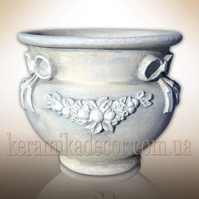 Керамический горшок в стиле прованс; керамика, шамот купить Украина