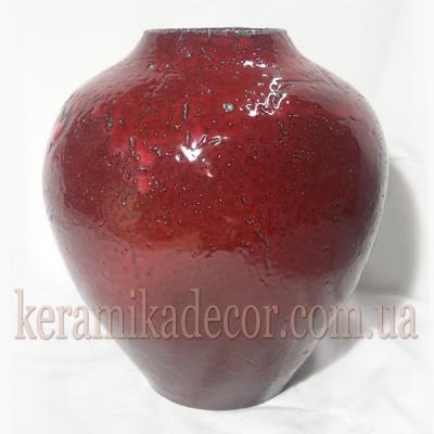Керамическая классическая глазурованная ваза для цветов купить для интерьера, для дома, квартиры, дачи, офиса, ресторана  Киев Украина