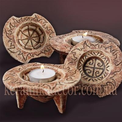 Трипольский керамический подсвечник купить Киев