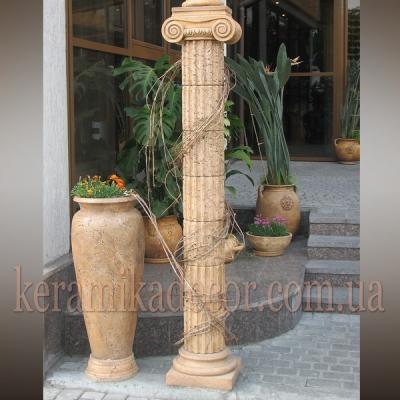 Керамическая колонна с ионической фронтальной   капителью D=220мм купить Украина