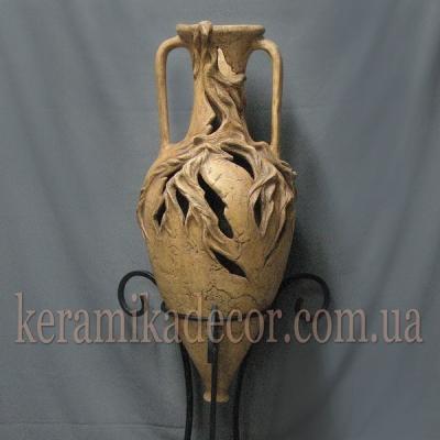 Керамическая амфора светильник для декора купить Киев