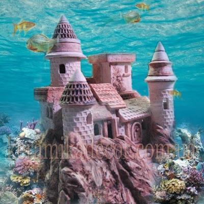 """Аква ландшафт """"Замок Тироль"""" для аквариума купить Киев Украина"""