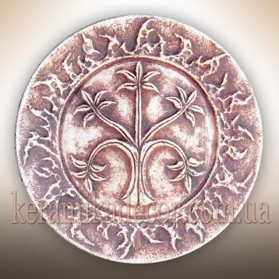Керамическая декоративная тарелка с Деревом Жизни купить Киев