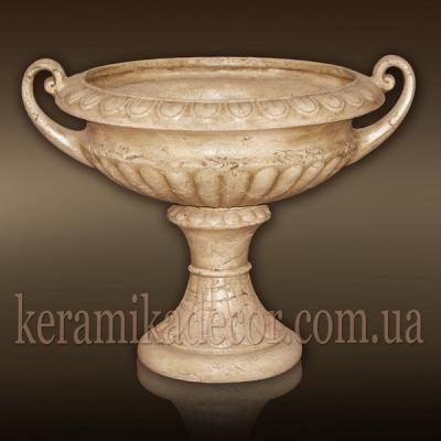 Керамическая античная чаша под мрамор