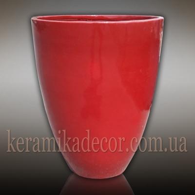 Красный глазурованный керамический горшок больших размеров купить