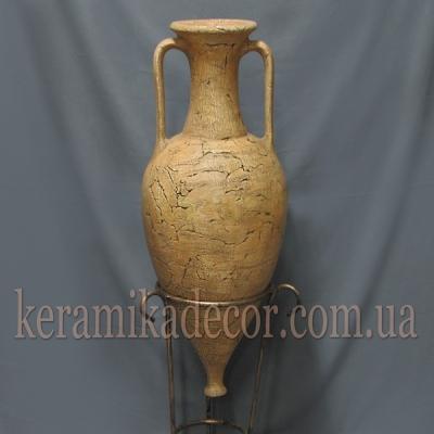 Керамическая амфора для декора купить Киев