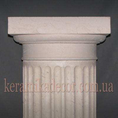 Керамическая колонна D=380мм. Капитель дорическая k-22