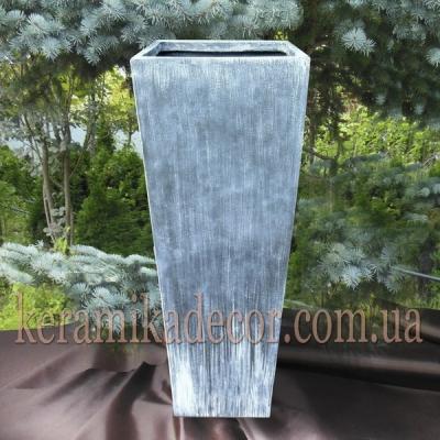 """Керамический крупный горшок контейнер для растений серого цвета""""под бетон"""" купить"""