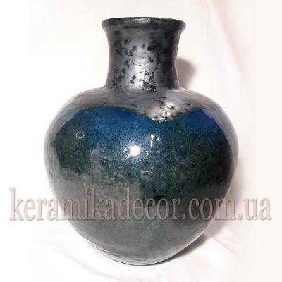 Керамическая глазурованная ваза для цветов купить для интерьера, для дома, квартиры, дачи, офиса, ресторана  Киев Украина