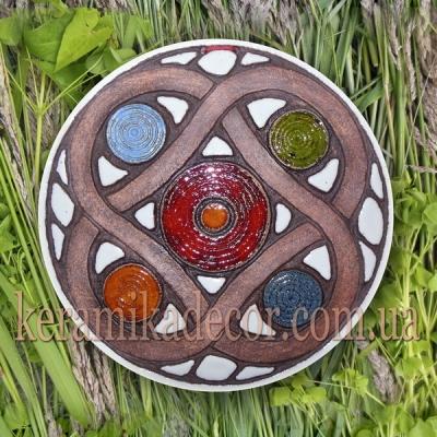 Декоративная тарелка-диск