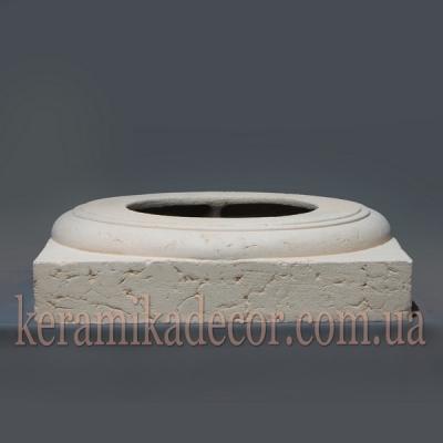 Керамическая колонна D=380мм. База №3 k-19
