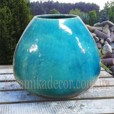 Керамическая глазурованная  ваза-груша для цветов купить для интерьера, для дома, квартиры, дачи, офиса, ресторана  Киев Украина