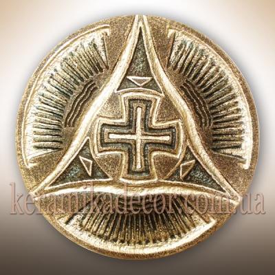 Трипольская тарелка золотая купить Киев