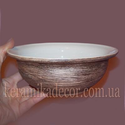 Керамическая глазурованная тарелка купить для подарка, для дома