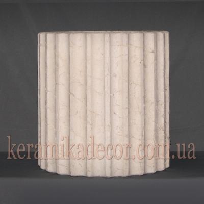 Керамическая колонна D=380мм. Сегмент k-21