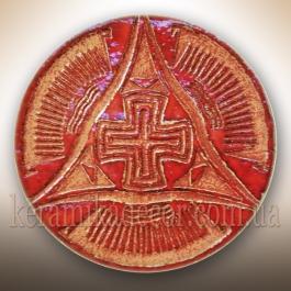 """Декоративная тарелка """"Крест Всемирья"""" tg-19"""