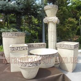 Коллекция керамических горшков для ландшафта, террасы
