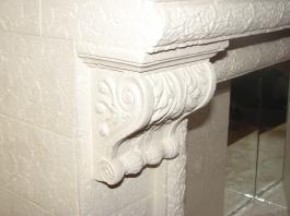 Керамический камин с кронштейнами, шамот купить Киев