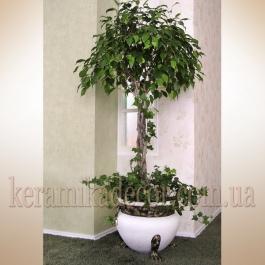 Керамический горшок-ваза для цветов купить Киев