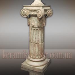 Керамическая колонна, пьедестал на 2 сегмента c переходником d=220мм, с ионической всесторонней капителью и базой, шамот Купить