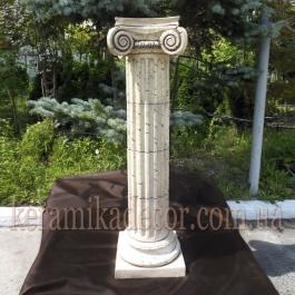 Керамическая колонна, пьедестал на 4сегмента, d=220мм с ионической всесторонней капителью и базой k-4vb купить