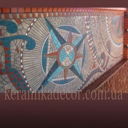 Керамическое мозаичное панно