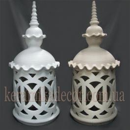 Керамический марокканский светильник, подсвечник для сауны, бассейна, хамама, ландшафтного дизайна и интерьера купить Киев Украина