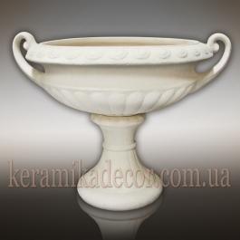 Керамическая античная чаша белая