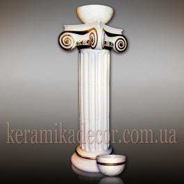 Керамическая колонна, пьедестал D=220 с ионической всесторонней капителью k-3vk