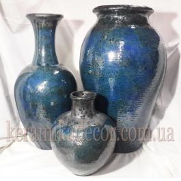 Керамические горшки для интерьера, дизайн ландшафта, шамот, глазурь купить