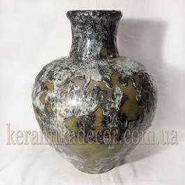 """Керамическая ваза """"Застывшая лава"""" va-5003g"""
