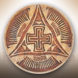 """Декоративная тарелка """"Крест Всемирья"""" tа-19"""