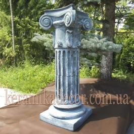 Керамическая колонна, пьедестал на 2 сегмента c переходником d=220мм, с ионической всесторонней капителью и базой k-2vpu для дизайна Купить Украина