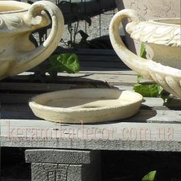 Керамический поддон для цветочного горшка купить