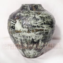 """Керамическая ваза """"Застывшая лава"""" v- 4401g"""